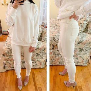 New Uniqlo White Ultra Stretch Leggings Pants